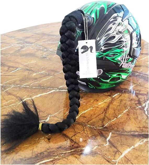 Hai Hong Helmet Pigtail Motorcycle Helmet Ponytail Bicycle Helmet Braids Hair Tails Used for Any Helmets/Reusable Design 24Inch