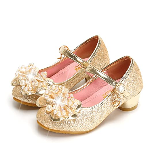 gold flower girl shoes
