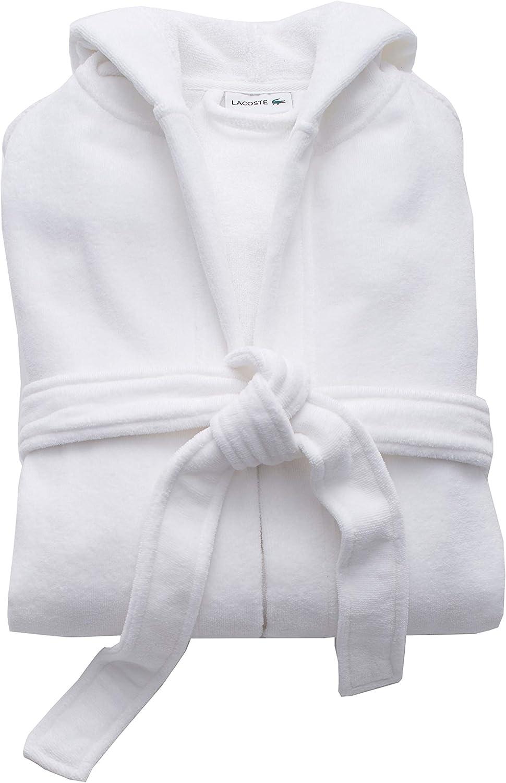 100/% Cotton Lacoste Fairplay Robe White 34 L