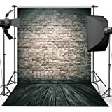 Photography Backdrop, 1.5 x 2.2 m Antique Brick Wall Wood Floor Backdrop For Studio Props Photo Backdrop