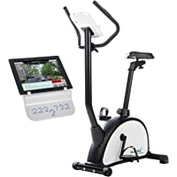 skandika Gaia - bicicleta estática de fitness - Bluetooth compatible con iConsole - Pulsómetro - Volante 12 kg