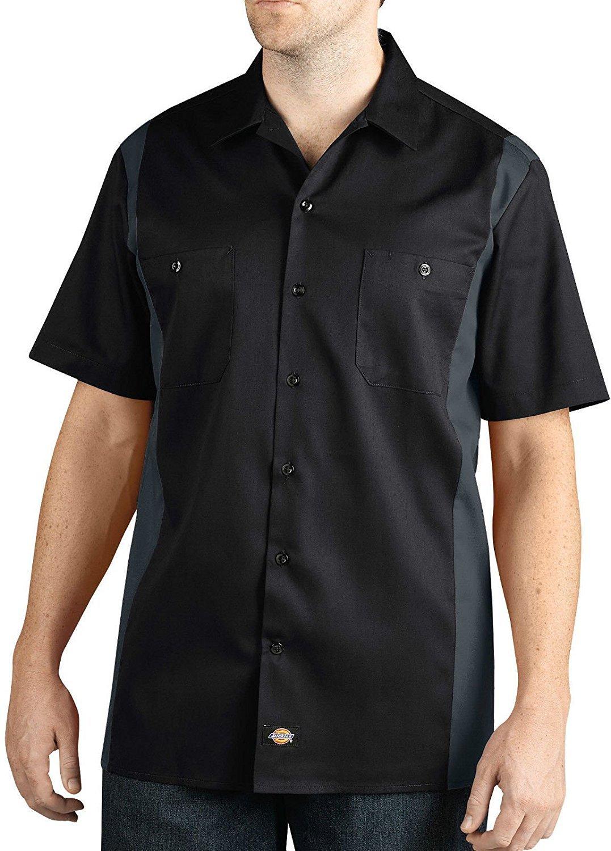 Dickies Big and Tall Men's Color Block Short Sleeve Work Shirt