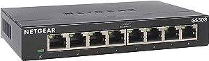 NETGEAR 8-Port Gigabit Ethernet Unmanaged Switch (GS308) - Home Network Hub, Office Ethernet Splitter, Plug-and-Play, Fanless Metal Housing, Desktop or Wall Mount