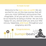 bumpinbeats Pregnancy Speaker. Play Music and Sound on Moms Belly. Includes 1 Speaker, Audio Splitter for bonding with Baby, and 8 Petal Shape adhesives to Attach to Your