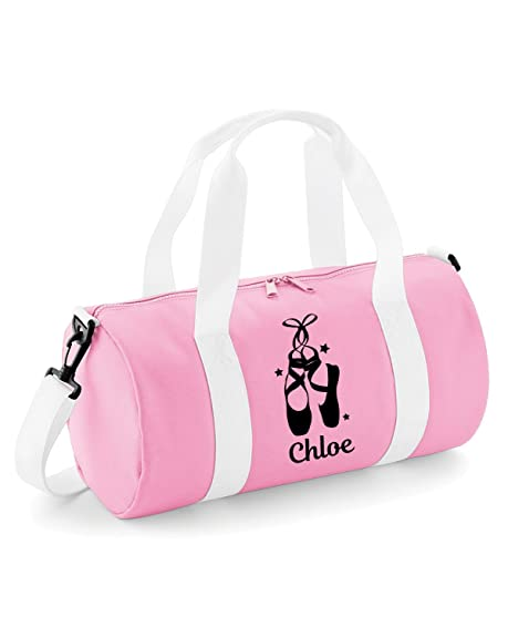 Personalised Girls Ballet Shoes Dance Kit Bag (Baby Pink Black Print)   Amazon.co.uk  Shoes   Bags 5d15ed696588