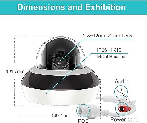 Anpviz Security 4.0MP POE IP PTZ Dome Camera