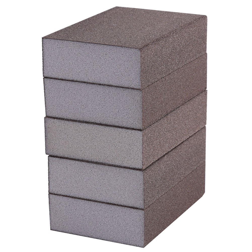 5Pcs Éponges à Poncer Bloc Abrasif Bloc de Polissage d'Éponge, Outil Abrasif de Polissage Bloc de Polissage d'Éponge (Fine Number 100 (240-320#)) Hilitand