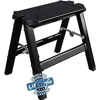 Elk & Bear Small Folding Step Stool for Adults or Kids Aluminum Ladder Great for Kitchen, Bathroom, RV, Closet, Garage…