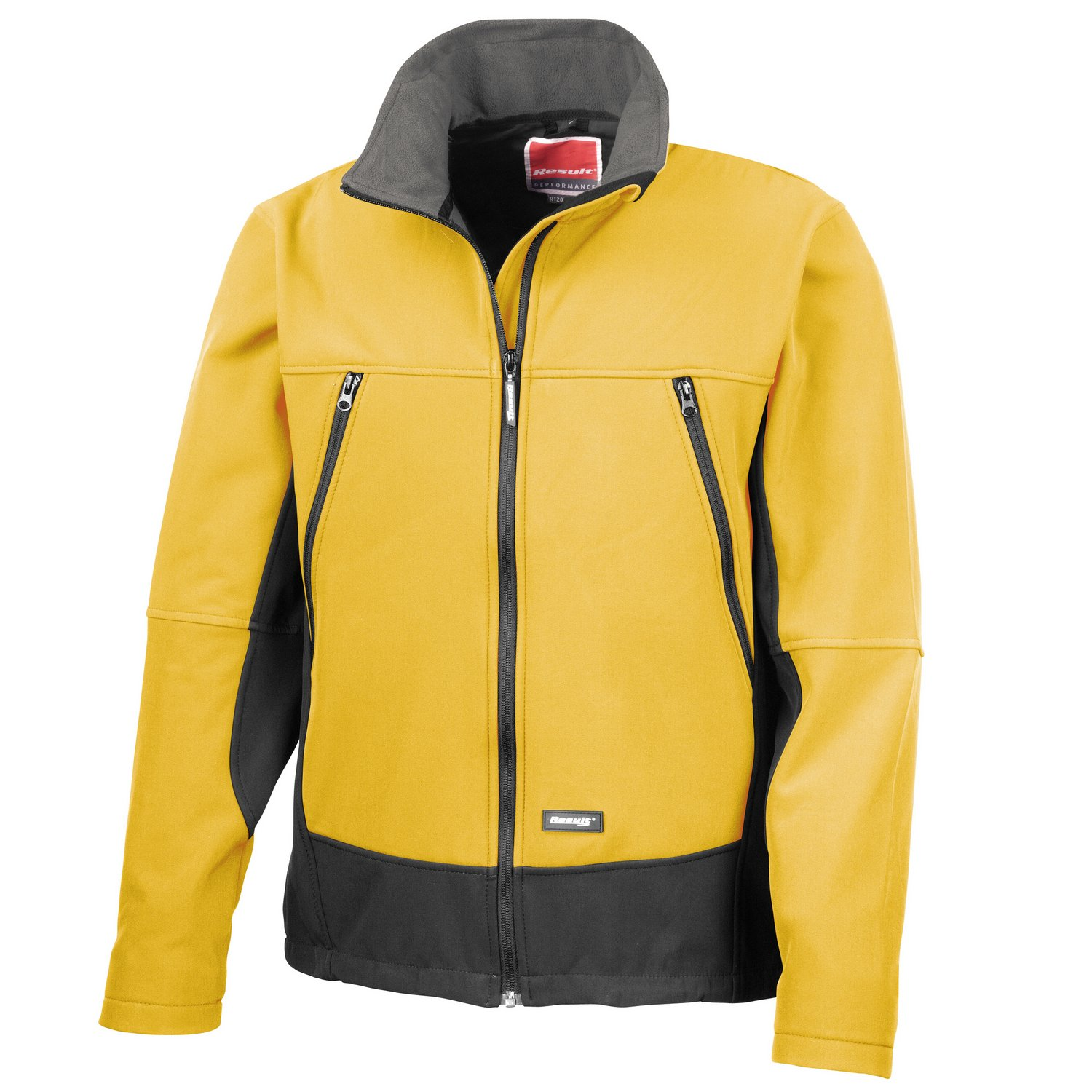 Result Softshell activity jacket Sport Yellow/ Black* 2XL