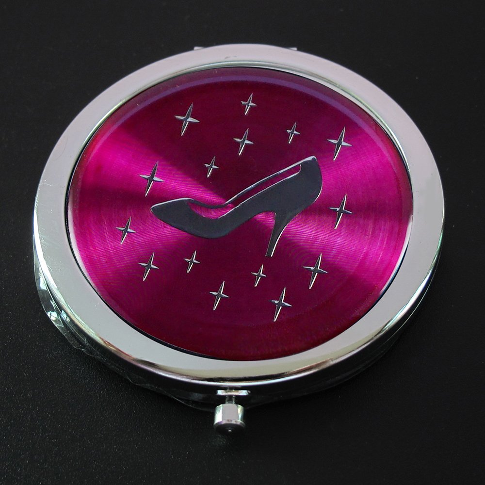 Amazon.com: Cinderella High Heel Shoe Design Compact Mirror Favor 12PCS Fuchsia/Quinceanera/Sweet 16/Zapatilla de Cenicienta Birthday Gift with gift Bags: ...