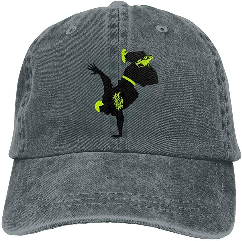 Rundafuwu Cappellino da Baseball//Cappello Trucker cap Breakdance Hip-Hop Denim Hat Adjustable Female Dad Baseball Hat