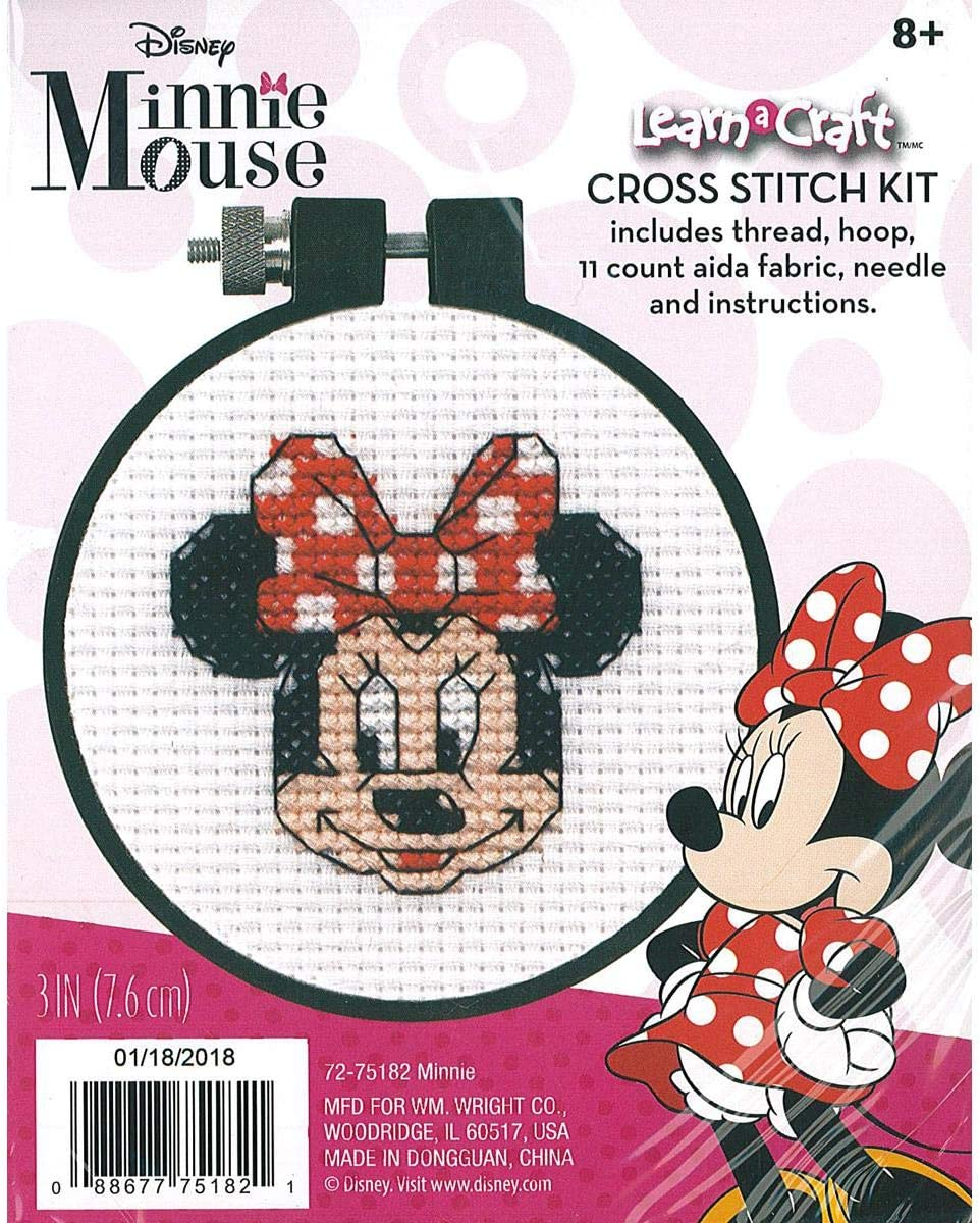 Minnie Mouse Counted Cross Stitch Kit