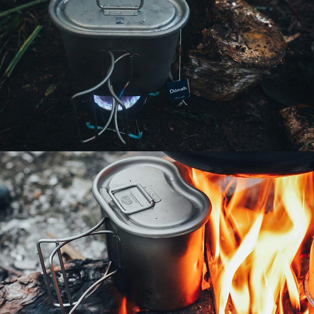 Army Titanium Canteen Water Bottle Cup Pot Outdoor Activities Tool Set  UK I GB