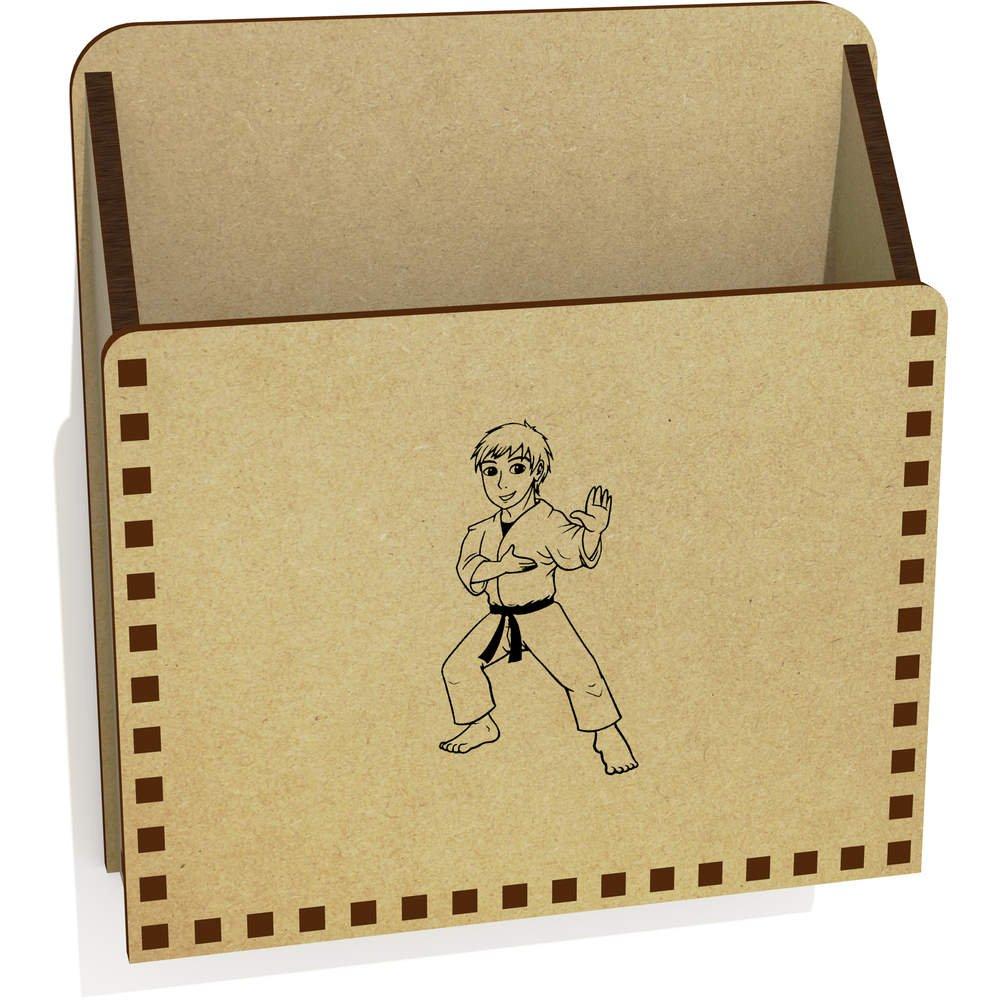 azeeda ' Karate Boy '木製レターホルダー/ボックス( lh00029875 )   B076TJRT1J