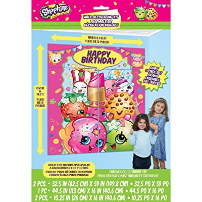 Shopkins Wall Party Decoration Kit, 5pc: Toys & Games