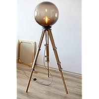 Floor Lamp, Bulb Lamp, LED Lamp, Studio Decor, Modern Lamp, Bar Decor, Wooden Lamp, Big Floor Lamp, Standing Lamp, Movie Decor, Gift Lamp
