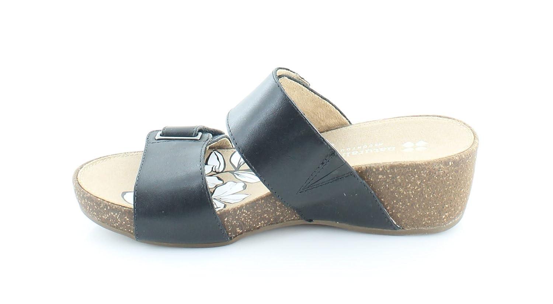 6cf166674cbf Naturalizer Women s Carena Black Leather Sandal  Amazon.co.uk  Shoes   Bags