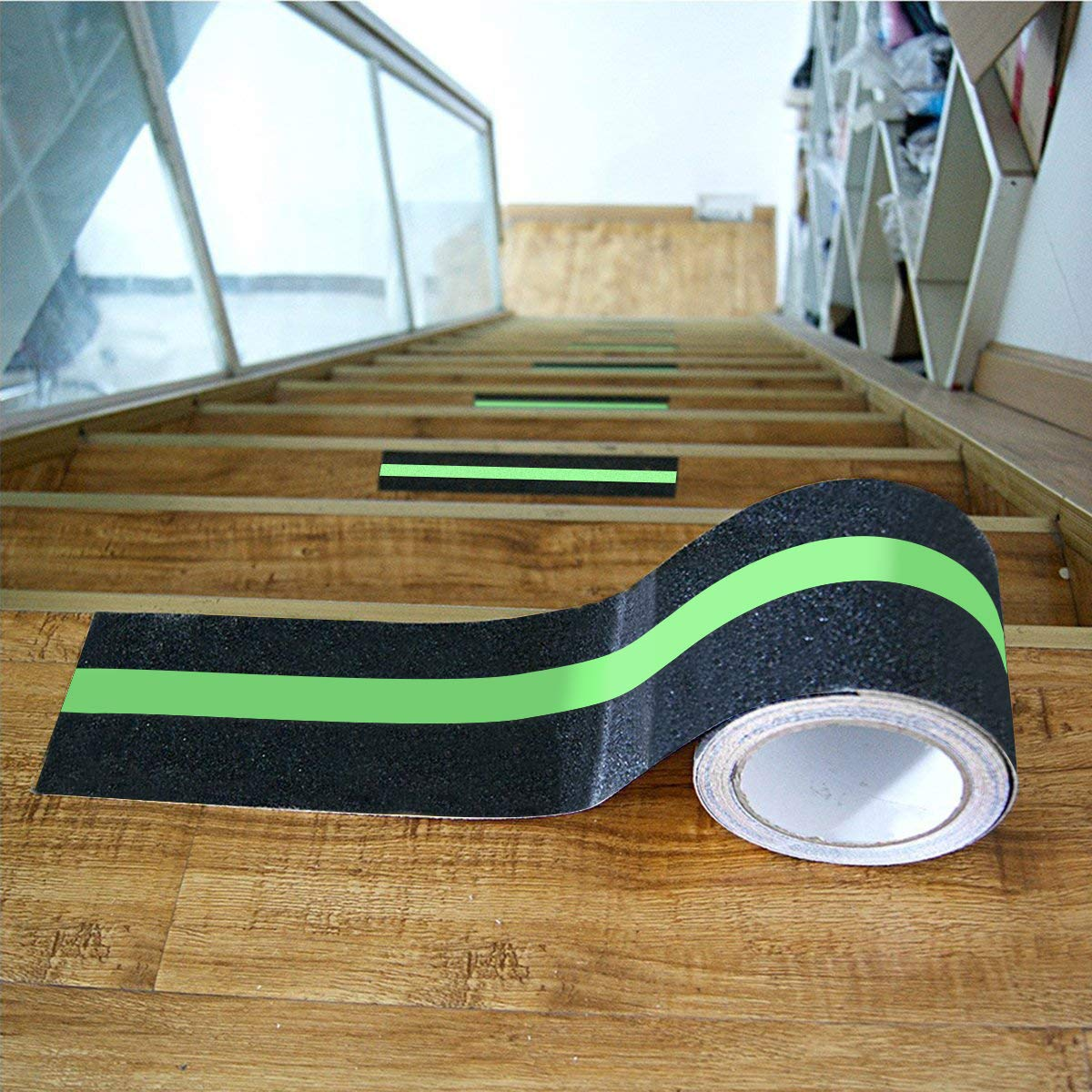 LITTOU  Anti Slip Grip Tape Luminous in Dark Abrasive Sticker Stairs Tread Step Safety Tape Non Slip Stickers 5 cm PVC