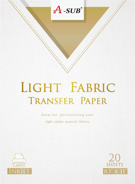 Koala 10 Sheets 8.5x11 Sublimation Heat Transfer Paper for Light Cotton T-shirts