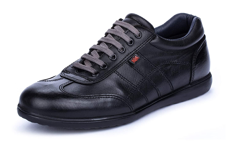 TALLA 50 EU. DCalderoni Aneto Negro Zapatos De Piel Hombre Casuales con Cordones 40-50 EU