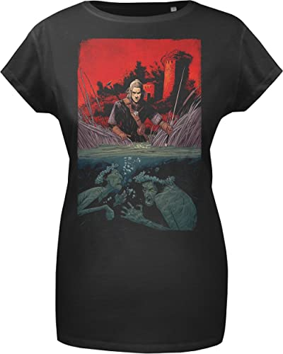GOZOO The Witcher T-Shirt Donna Drowner 100% Cotone Nero