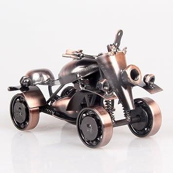 Powzz ornament Retro Hierro De Cuatro Ruedas Beach Car Kart Modelo Muebles para El Hogar Escritorio De Oficina De Negocios Creativos, M58-1 Antiguo Color ...