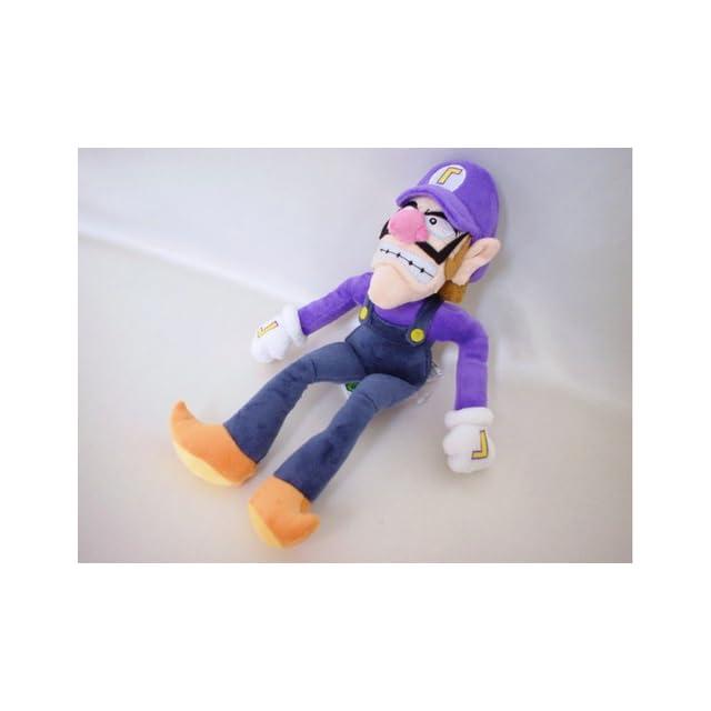 Super Mario Plush   11 Waluigi Soft Stuffed Plush Toy Japanese Import