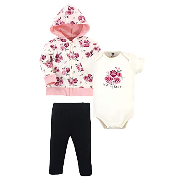 Bodysuit or Tee Top and Pant Set Hudson Baby Unisex Baby Cotton Hoodie