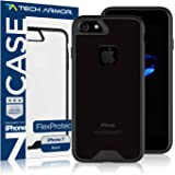 Tech Armor Apple iPhone 7 / iPhone 8 FlexProtect Case Perfect Fit, Flexible Protection, Shock Absorption for Apple iPhone 7/8 (Black/Clear)