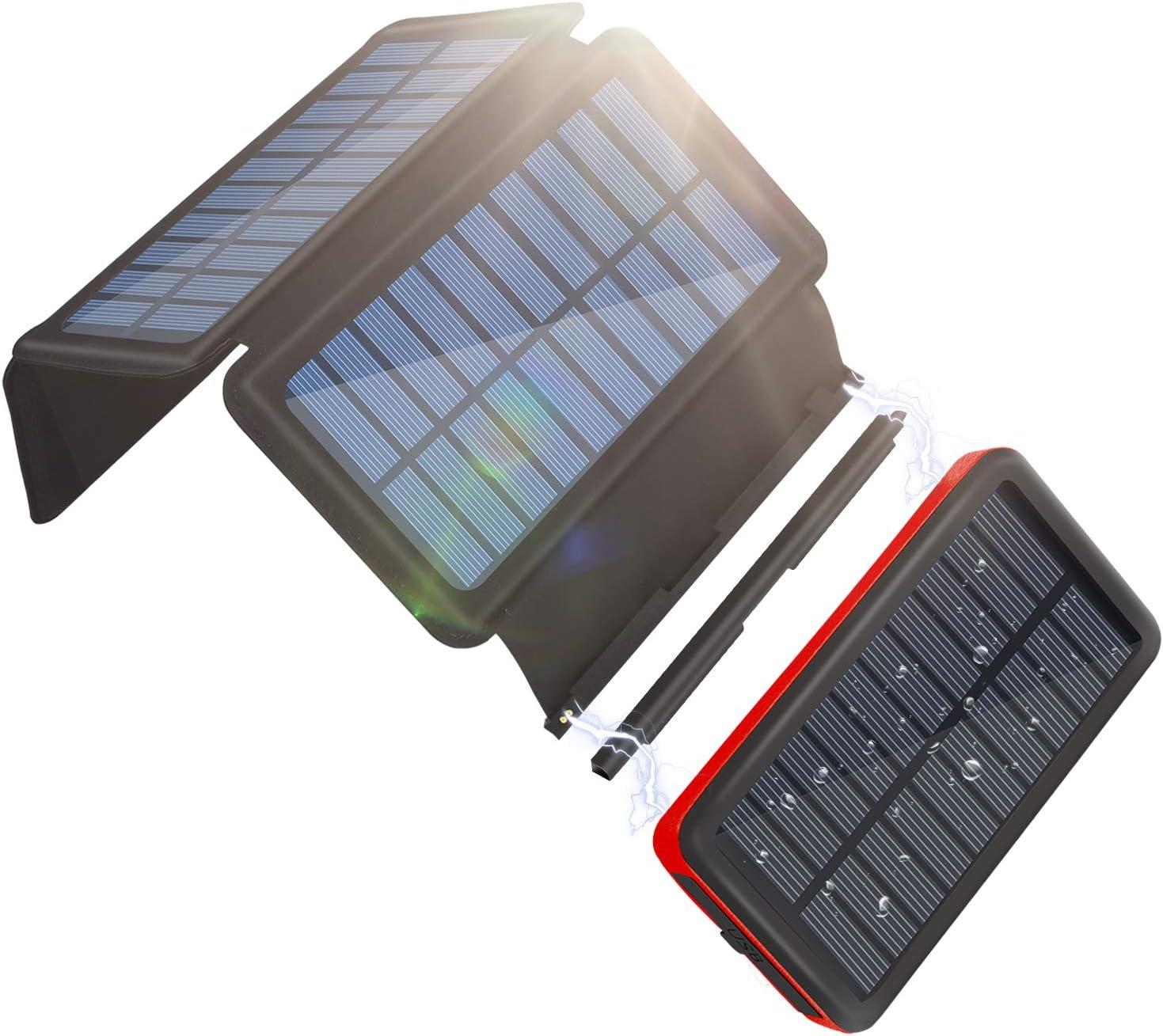 ソーラーチャージャー モバイルバッテリー 26800mAh 大容量