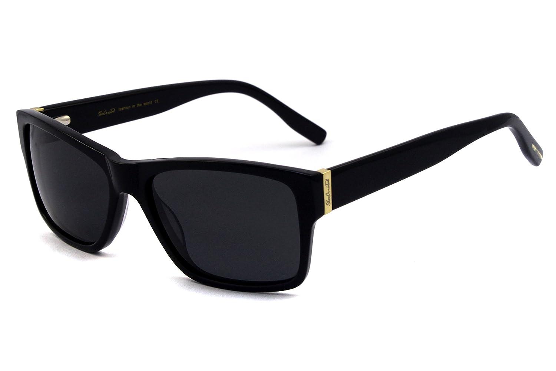 Classic Men Polarized Acetate Sunglass 100% UV with Free Case 1120C2