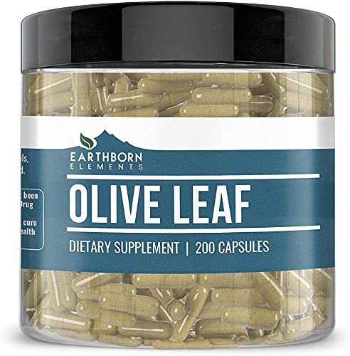 Olive Leaf Extract, 200 Capsules, 940mg Serving, 20 Oleuropein, Natural Antioxidant, Potent, Gluten-Free, Non-GMO, No Stearates or Filler, Lab-Tested, Made in USA, Satisfaction Guaranteed