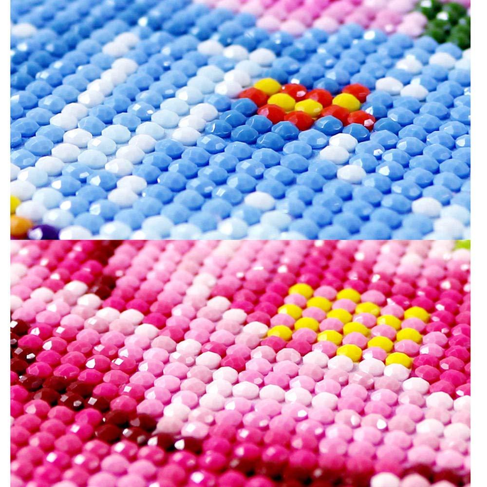 de bricolaje 5D Diamond pintura Nuevo Rosa Gato Imagen Bordado Kits de punto de cruz Animal Patr/ón de mosaico Artes y manualidades Regalo