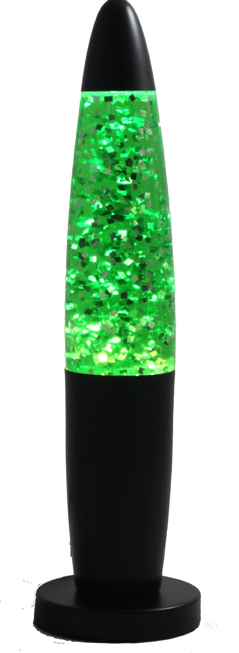 Creative Motion Black Base Sparkle Lamp, 13-Inch, Green