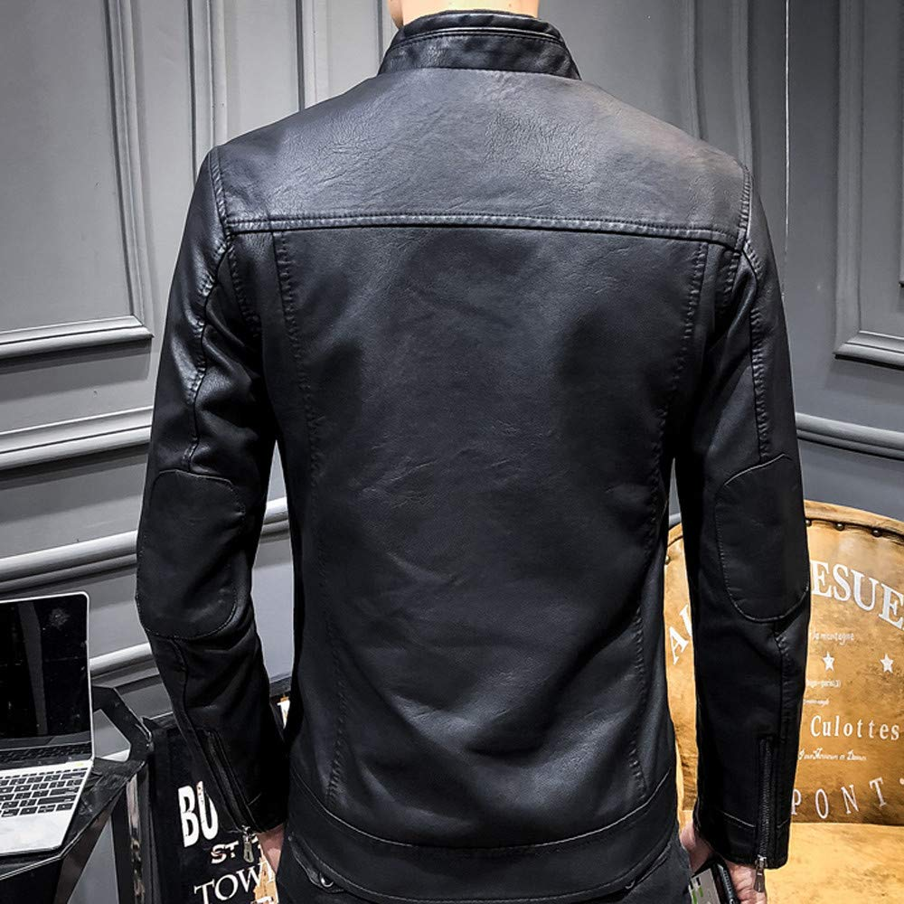 kemilove Mens Motorcycle Jacket Leisure Fashion Material Jacket Autumn Winter Coat at Amazon Mens Clothing store: