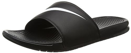 Nike Benassi Swoosh, Sandales Bout Ouvert Homme, Noir (Black