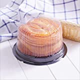cyfellbiu Plastic single individual 6 inch cake muffins flat roof case case box (25 packs)
