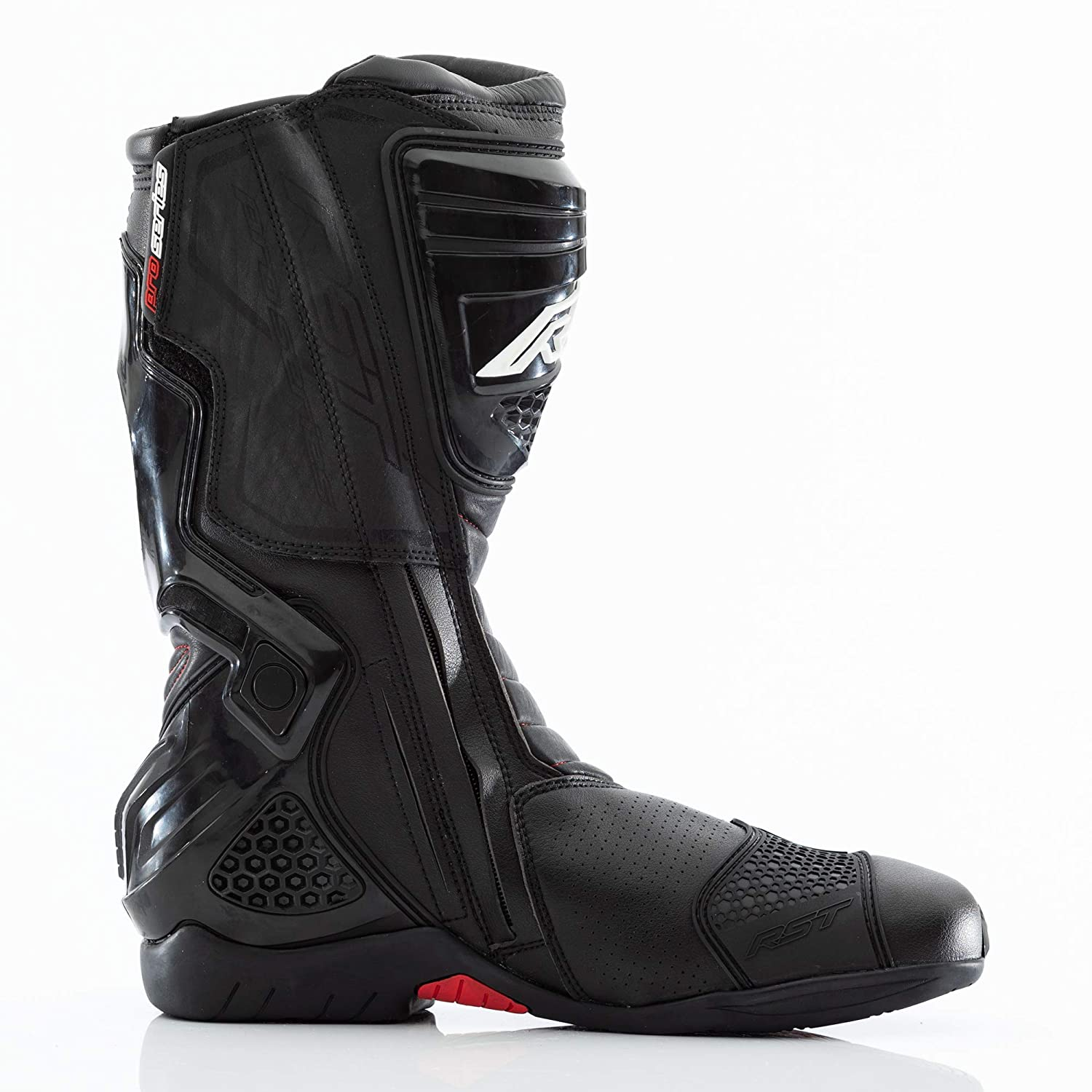 RST PRO SERIES 1503 RACE CE BOOT F.RED//WH//BLK 45 10.5
