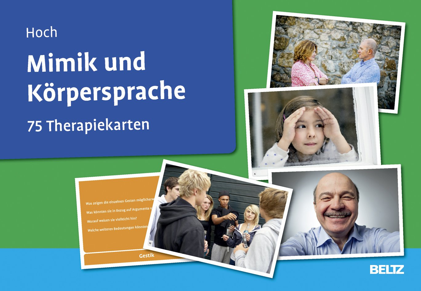 Mimik und Körpersprache: 75 Therapiekarten mit 36-seitigem Booklet