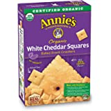 Annie's Organic White Cheddar Squares Baked Snack Crackers, 7.5 oz