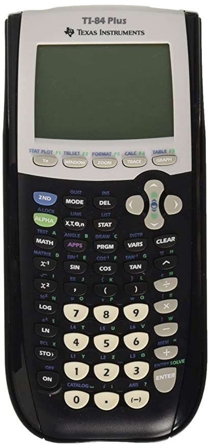 Amazoncom Texas Instruments Ti 84 Plus Graphics Calculator Black