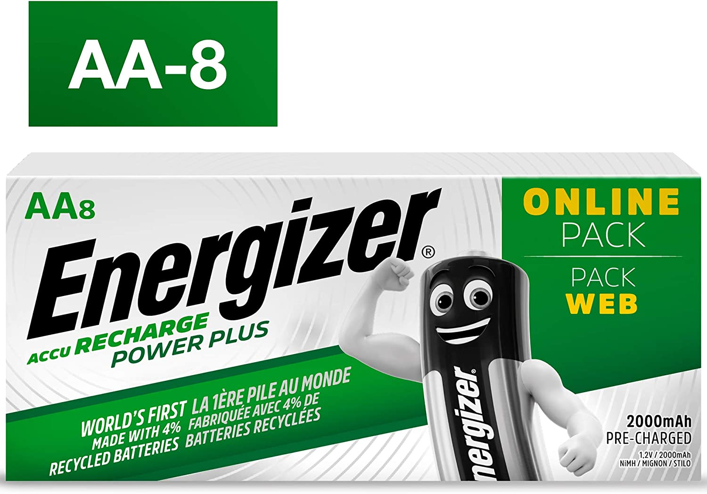 2000 mAh Energizer AA Akkus 16 wiederaufladbare Batterien AA Recharge Power Plus Akku
