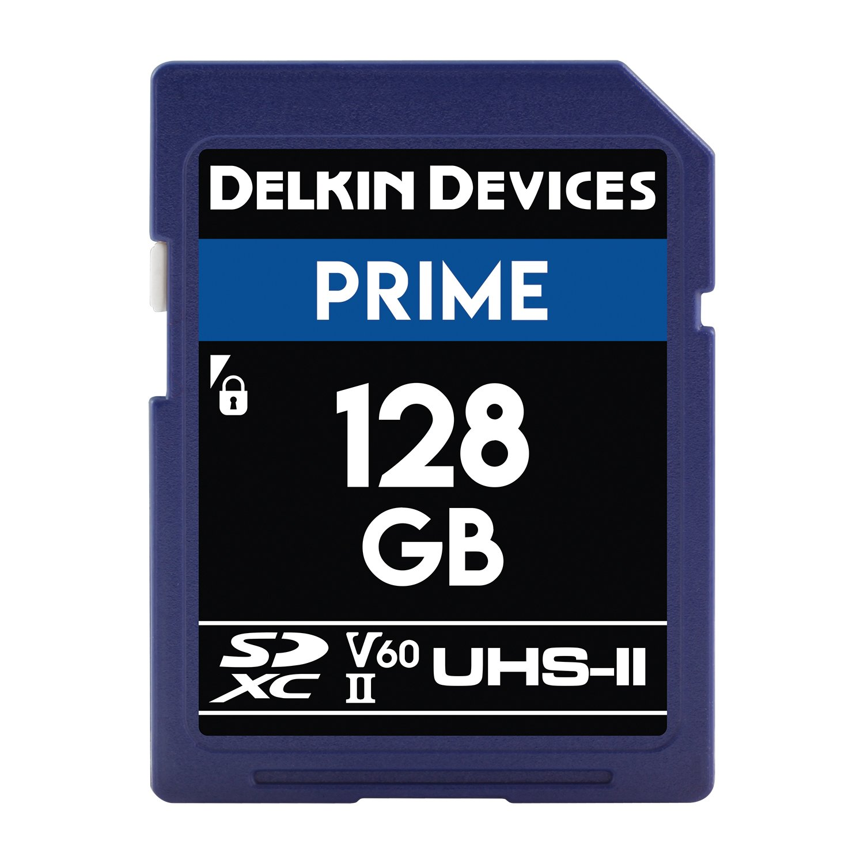 Dispositivos Delkin 128/GB Prime SDXC 1900/x UHS-II U3/Tarjeta de memoria//V60