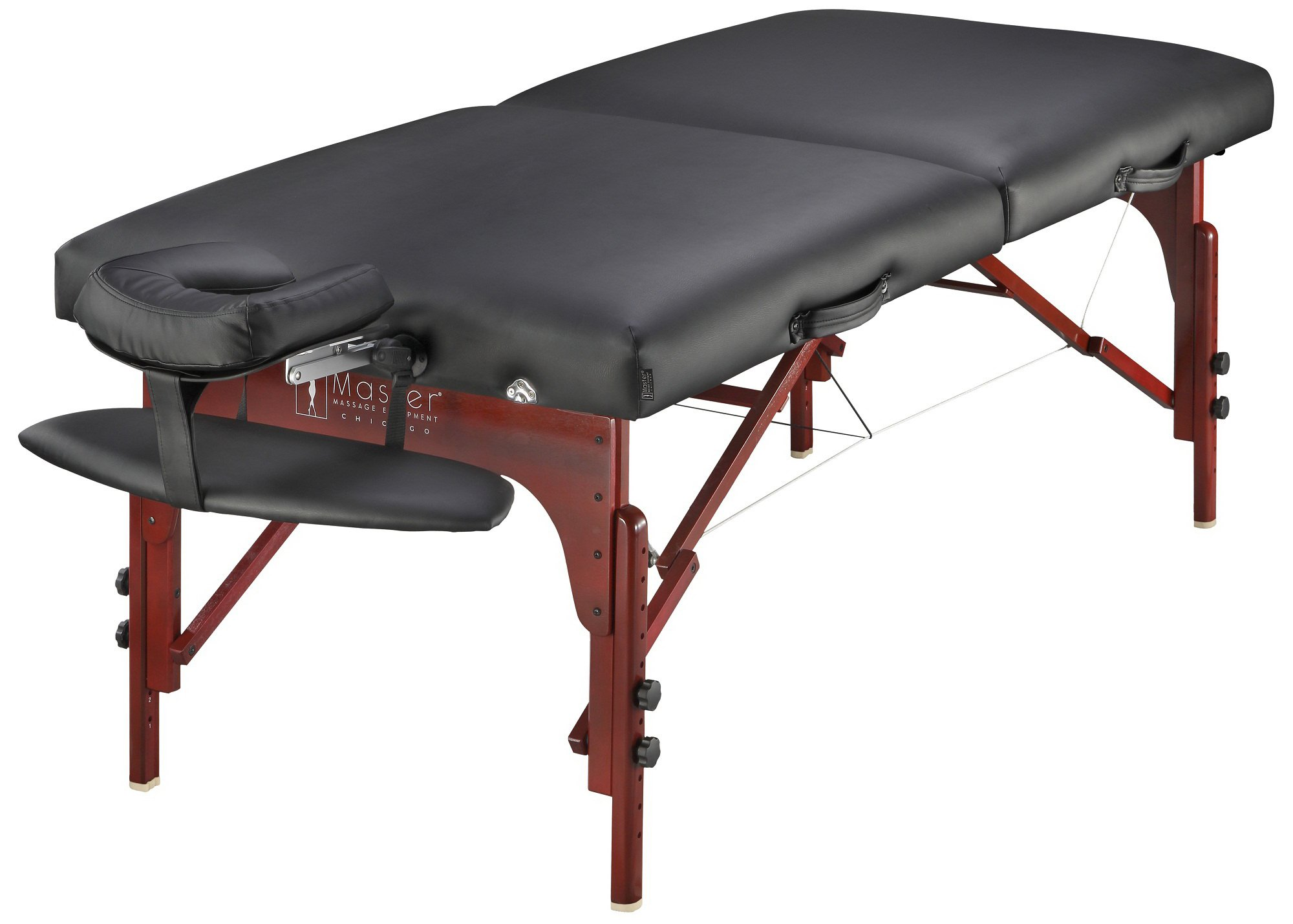 Master Massage 31'' Montclair Professional Portable Massage Table Package with MEMORY FOAM Layer -Black by Master Massage