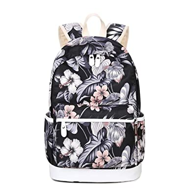 72973437798 3Pcs Set Women Floral Printing Backpack Canvas Bookbags School Backpacks  Bags For Teenage Girls Bagpack