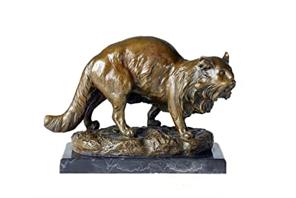 amazon com toperkin bronze statues animal sculptures persian cat