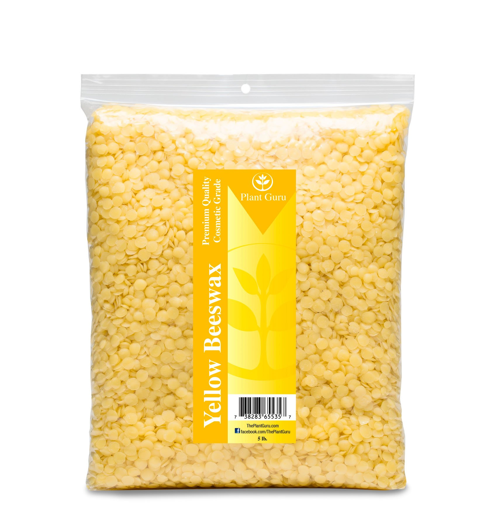 Yellow Beeswax Pellets 5 lb Bulk 100% Pure And Natural Triple Filtered For Skin, Face, Body and Hair Care DIY Creams, Lotions, Lip Balm and Soap Making Supplies.