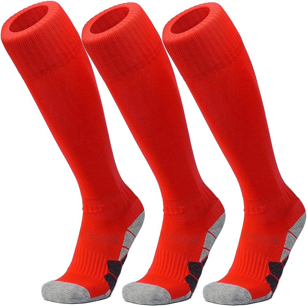Kids Football sports Socks Boys//Girls Outfits Compression Long Sport Soccer Socks Pack