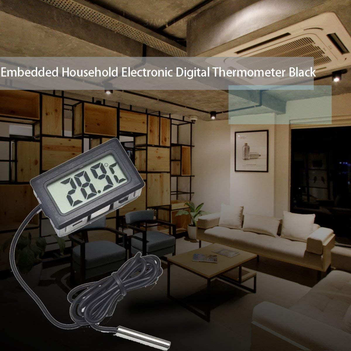 Gugutogo Embedded Electronic Digital Thermometer Fy-10 Digital Electronic Refrigerator Thermometer