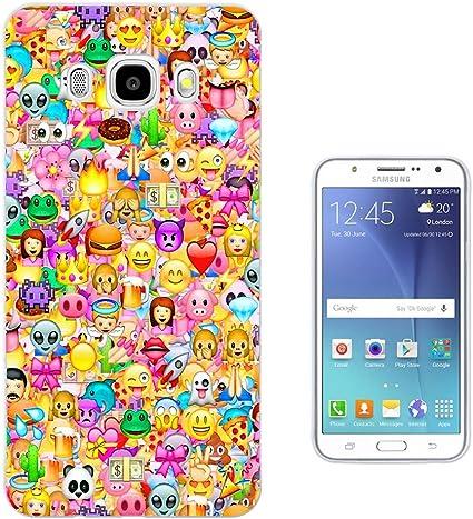 925 - Collage Multi Smiley Faces Emoji Design Samsung Galaxy J3 2016 SM-J320F Fashion Trend Protecteur Coque Gel Rubber Silicone protection Case Coque